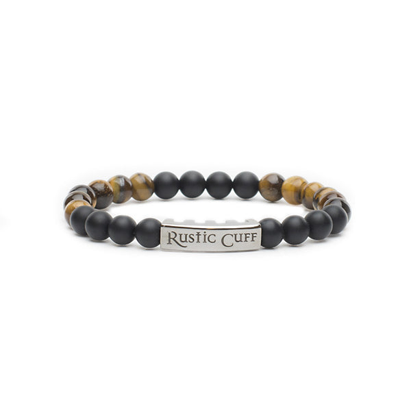 RC Boys Johnny - Beaded Tigers Eye Black Agate