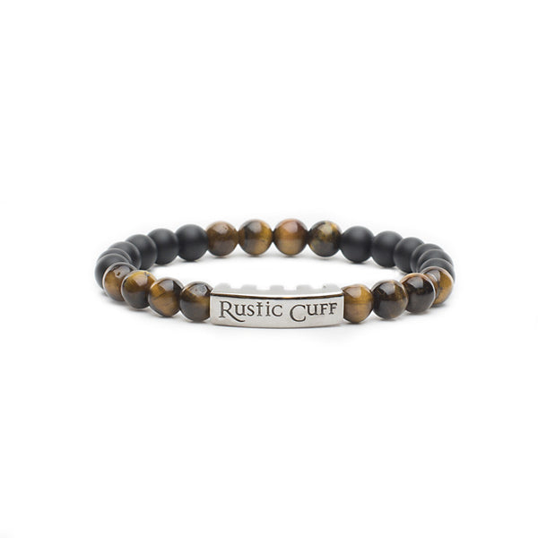 RC Boys Johnny - Beaded Black Agate Tigers Eye