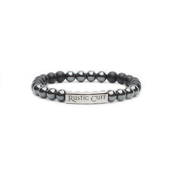 RC Boys Johnny - Beaded Black Agate Hematite