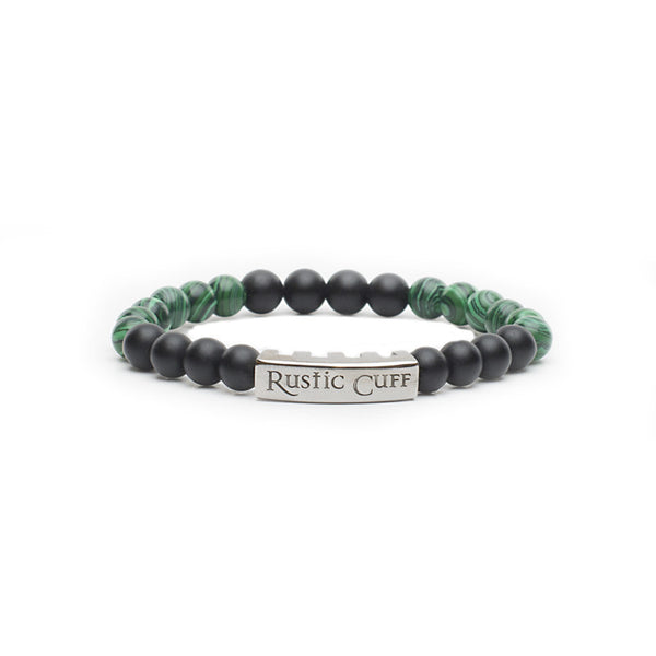 RC Boys Johnny - Beaded Green Malachite Black Agate