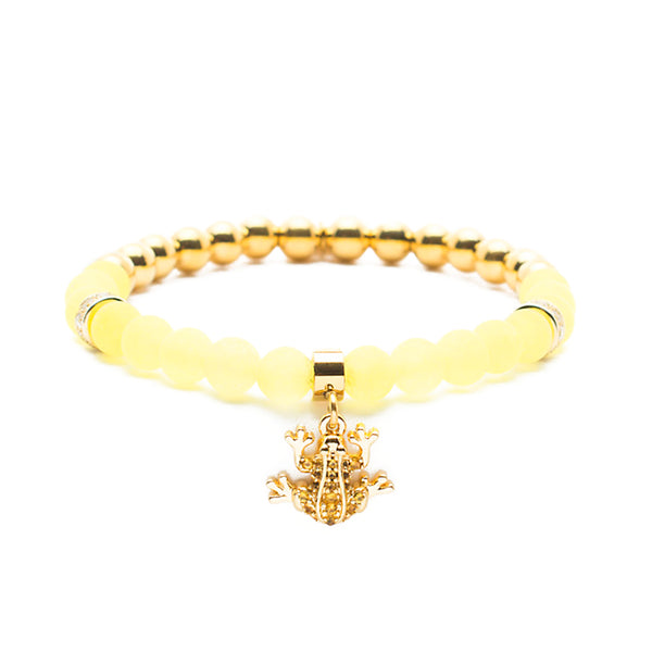 Shannon Yellow with Gold Frog