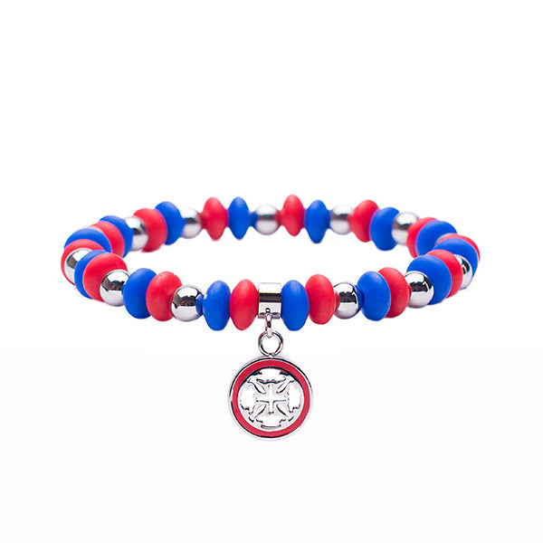Courtney Game Day - Red/Royal Blue with Silver