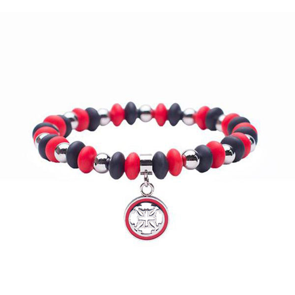 Courtney Game Day - Red/Black with Silver