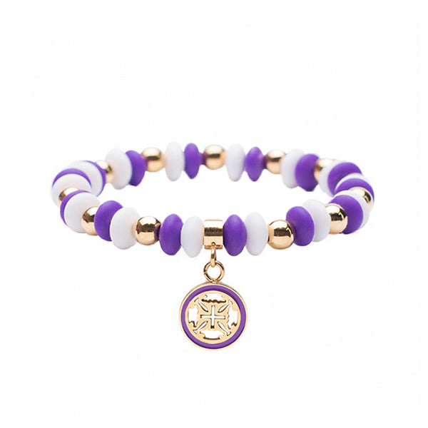 Courtney Gameday - Purple/White with Gold
