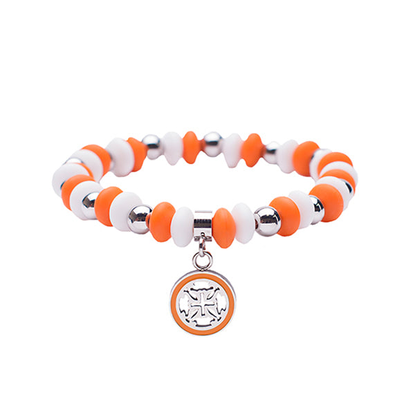 Courtney Game Day - Orange/White with Silver
