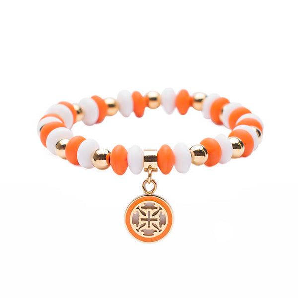 Courtney Game Day - Orange/White with Gold