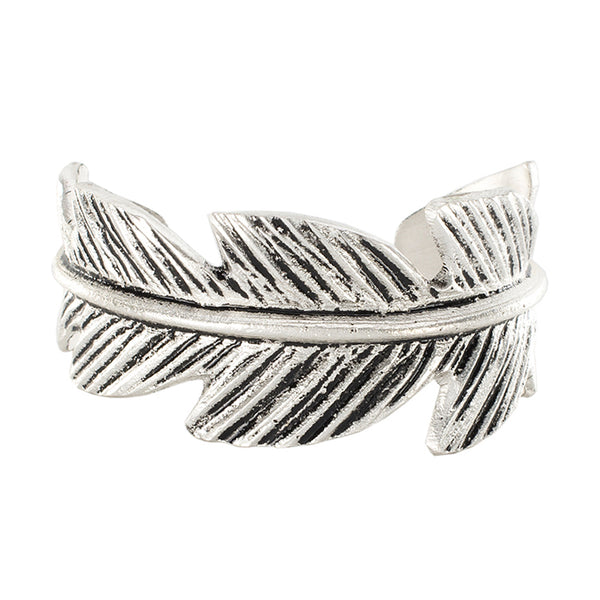 Cast Silver Feather Cuff