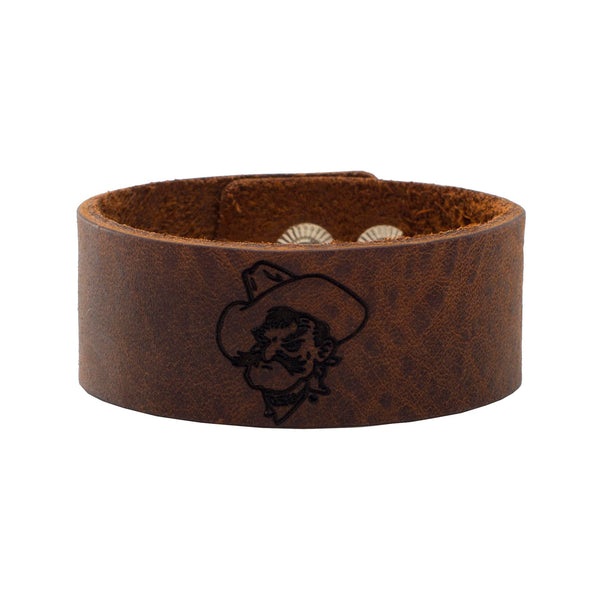 1.0 Engraved Leather Snap - Pistol Pete