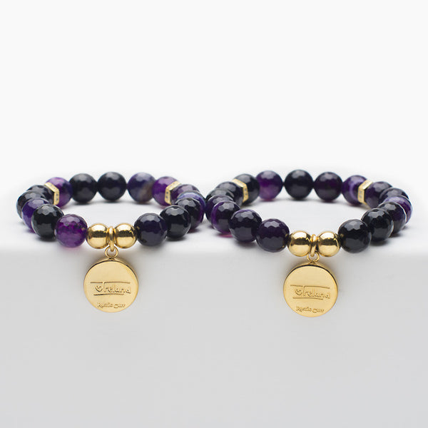 Mommy and Me Ireland Signature - Dark Purple with Gold