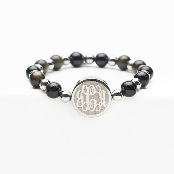 Custom Monogram Brandi Black - Silver