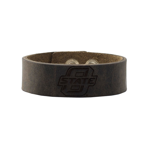Leather Snap Cuff .75 - O State