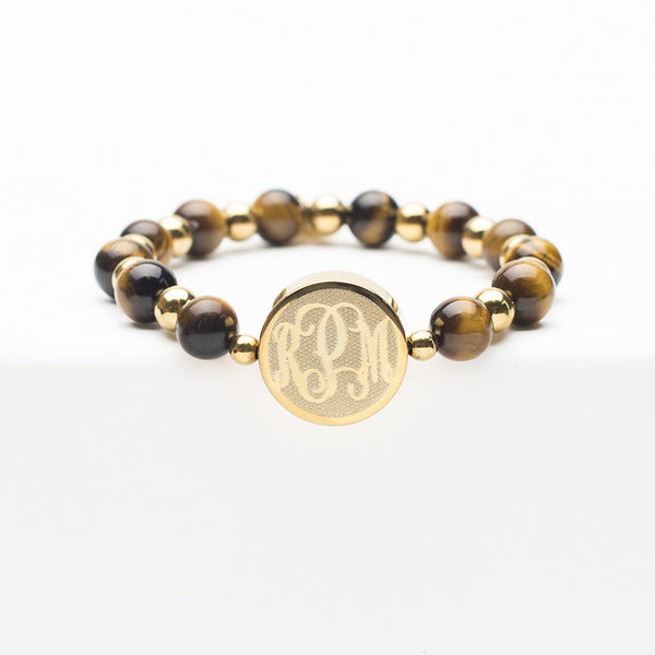 Custom Monogram Brandi Brown - Gold
