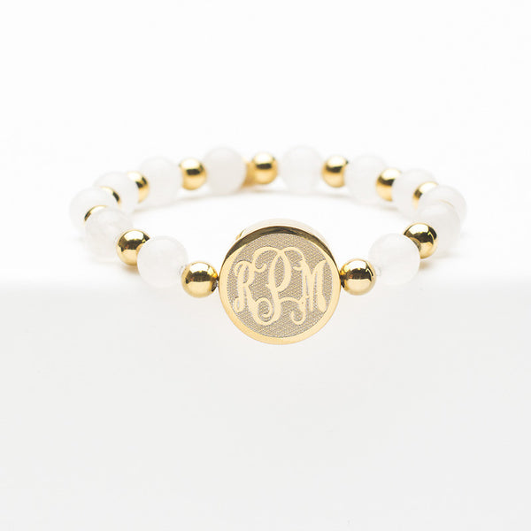 Custom Monogram Brandi White - Gold