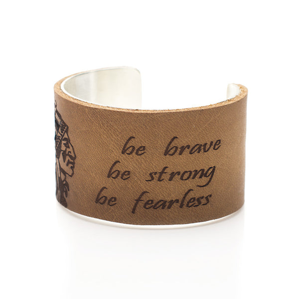 "Be Brave. Be Strong. Be Fearless. - 1.5"" Silver"