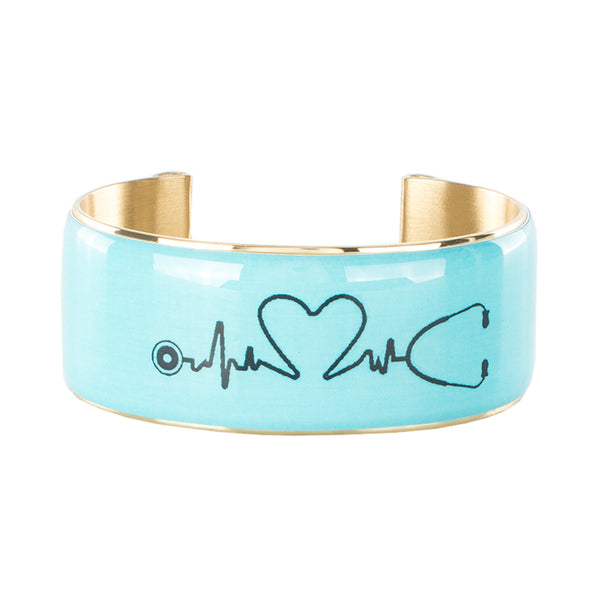 Art Deco 1.0 Turquoise Medical Professional with Heartbeat