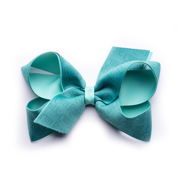 Rustic Cuff Hair Bow - Aquamarine