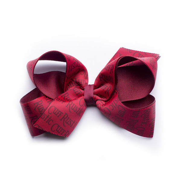 Rustic Cuff Hair Bow - Cranberry