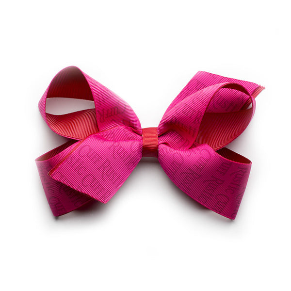 Rustic Cuff Hair Bow - Raspberry