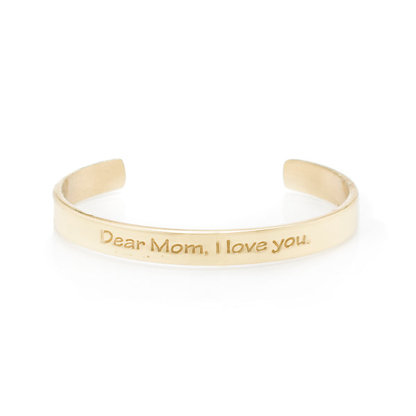 Quote .25 Dear Mom, I Love You - Gold