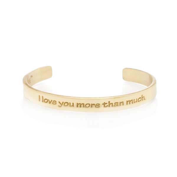 Quote .25 I Love You More Than Much - Gold