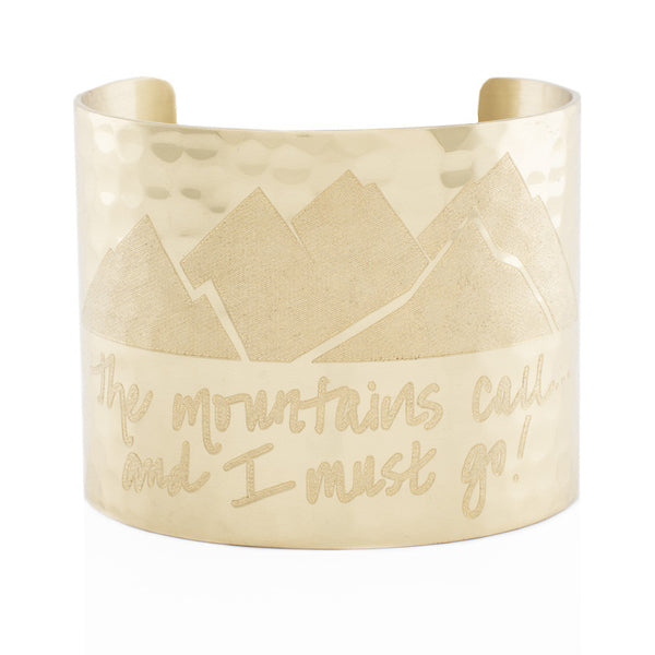 "Custom Handwriting/Image - Engraved 2.0"" Non-Rimmed Gold (Hammered)"