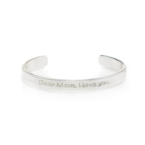 Quote .25 Dear Mom, I Love You - Silver