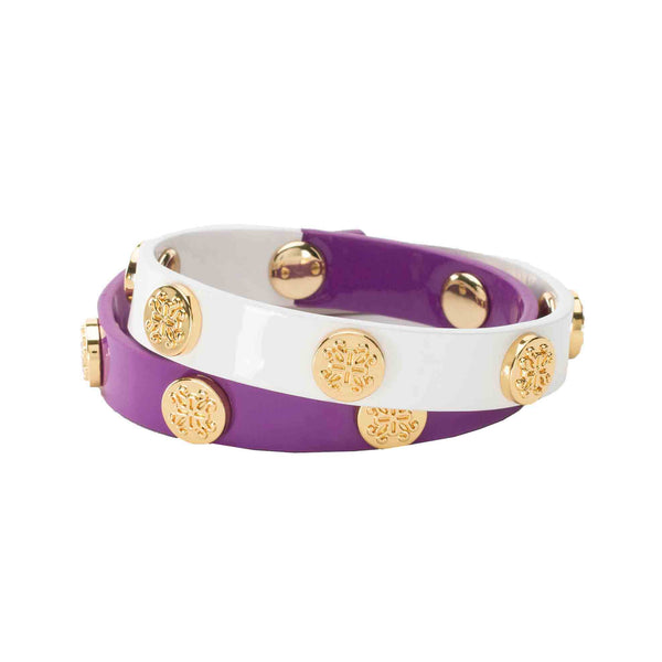 Meagen Double Game Day - Purple/White - Gold