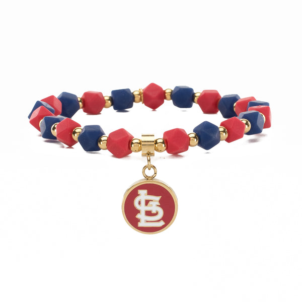MLB Hexagon Beaded - St. Louis Cardinals on Gold