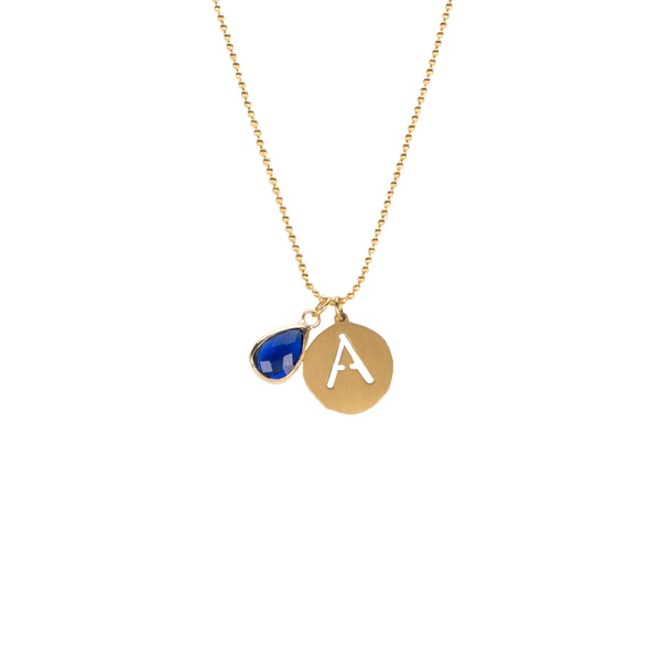Adele- September Necklace - Gold
