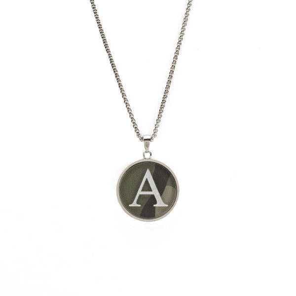 Jackie Necklace with Custom Single Initial Monogram - Silver