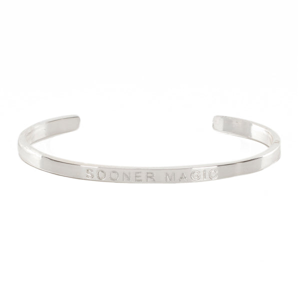 "Mini Quote Cuff ""SOONER MAGIC"" - Silver"