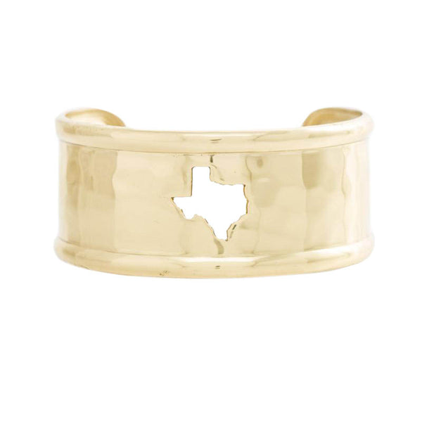 Rimmed Cut Out 1.0 Texas Map Gold