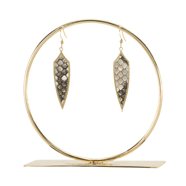 Python Pendulum Earrings - Starlight on Gold