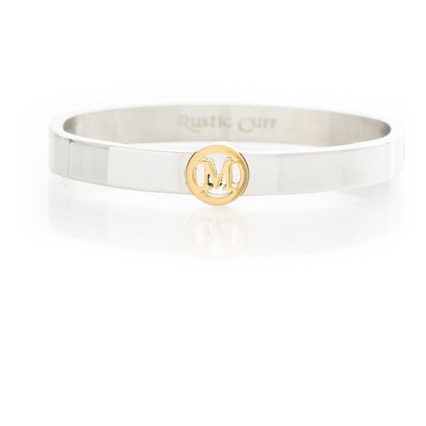 Suzanne Initial Bangle - M