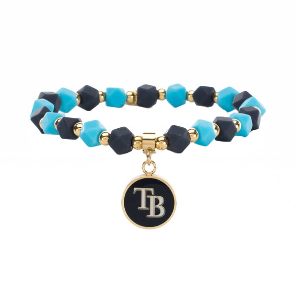 MLB Hexagon Beaded - Tampa Bay Rays on Gold