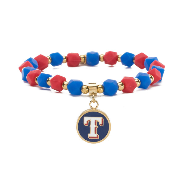 MLB Hexagon Beaded - Texas Rangers on Gold