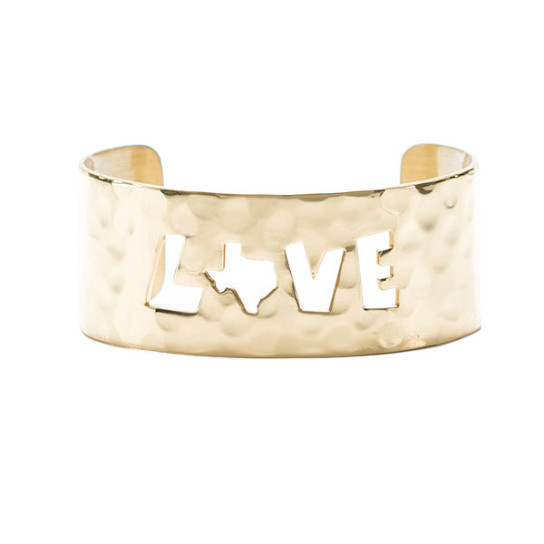 Texas Line - Jenni Webb Texas Love Cutout - Gold