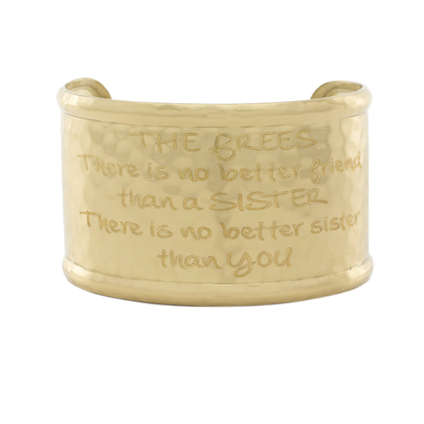 "Custom Engraved Font - Engraved 1.5"" Rimmed Gold (Hammered)"