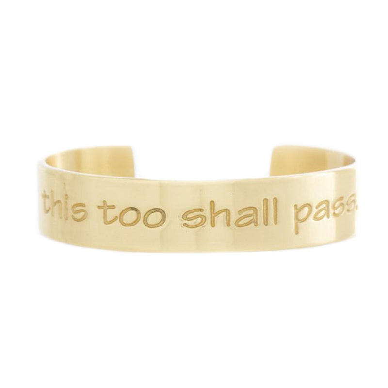 Engraved Quote .5 This Too Shall Pass - Gold