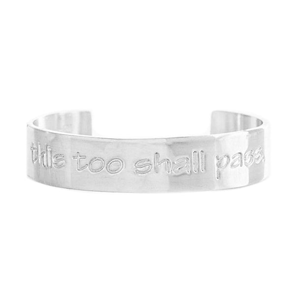 Engraved Quote .5 This Too Shall Pass - Silver