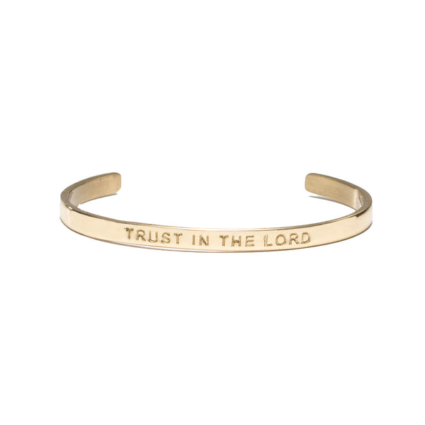 "Mini Quote Cuff ""TRUST IN THE LORD"" - Gold"