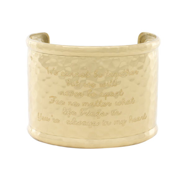 "Custom Engraved Font - Engraved 2.0"" Rimmed Gold (Hammered)"