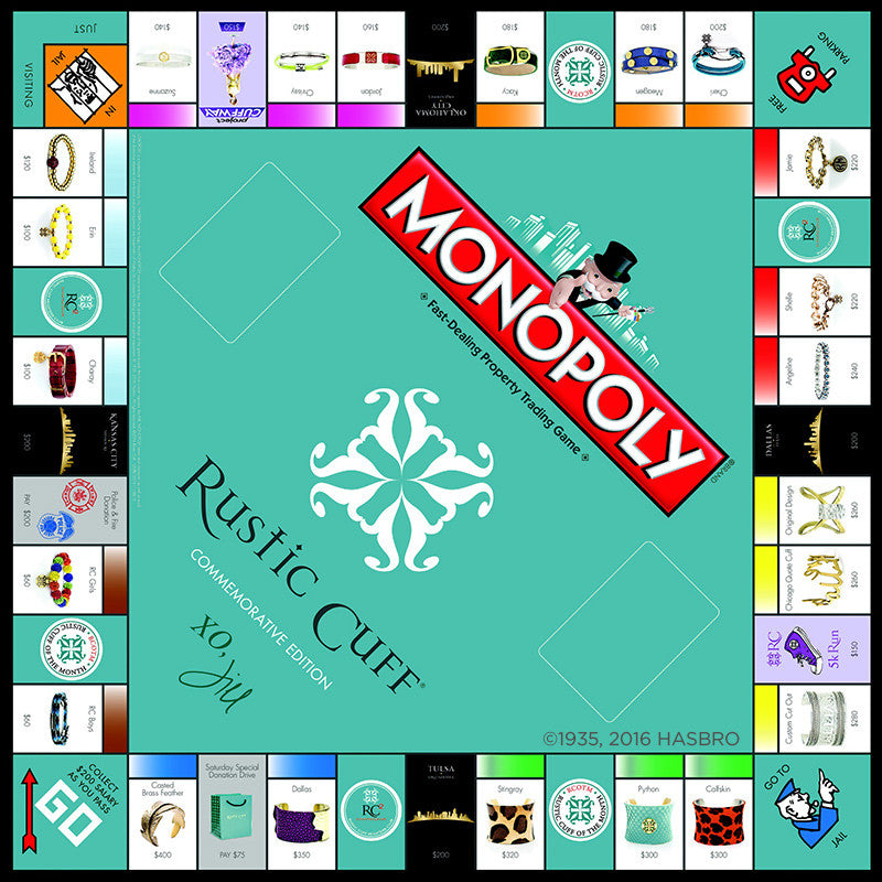RC Monopoly Game – Rustic Cuff