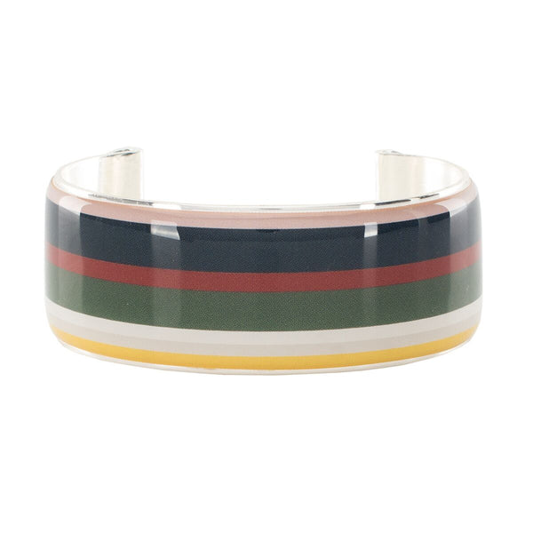 Art Deco 1.0 Stripe - Blush, Navy, Brick Red, Forest Green, White, and Yellow