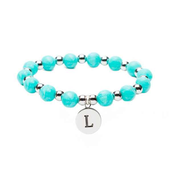 Erin Initial Pearlized Turquoise (A-Z)