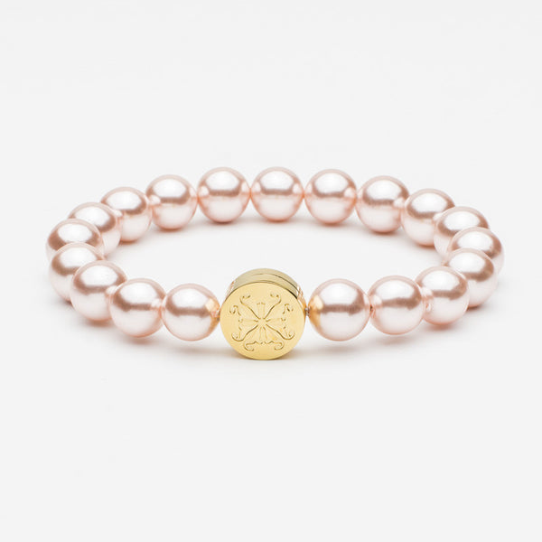 Stephanie Grand Pearl Bead Pink/Gold