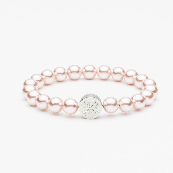 Stephanie Pearl Bead Pink/Silver