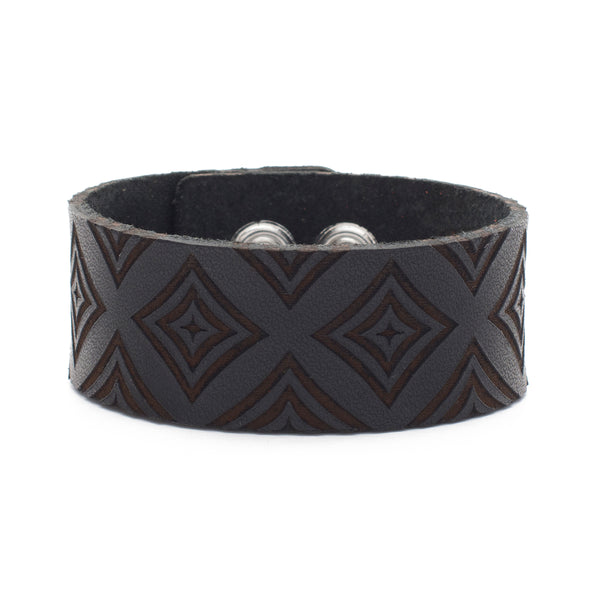 Leather Snap Cuff 1.0 - Patterns Diamond