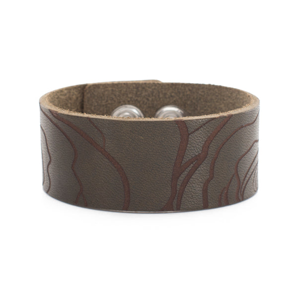 Leather Snap Cuff 1.0 - Patterns Abstract Rose