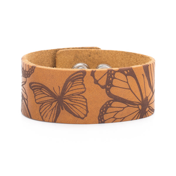 Leather Snap Cuff 1.0 - Patterns Butterflies